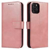 Magnet Case elegancki futerał etui pokrowiec z klapką i funkcją podstawki Samsung Galaxy M31s różowy