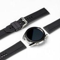 Ringke Rubber One silikonowa bransoleta opaska pasek do zegarka smartwatch Samsung Galaxy Watch 3 41 mm czarny (COM-B-20-10)