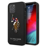"US Polo USHCP12MPUGFLBK iPhone 12/12 Pro 6,1"" czarny/black Polo Embroidery Collection"