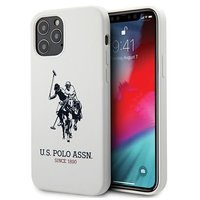 """US Polo USHCP12MSLHRWH iPhone 12/12 Pro 6,1"""" biały/white Silicone Collection"""