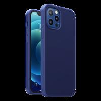 Ugreen Protective Silicone Case gumowe elastyczne silikonowe etui pokrowiec iPhone 12 Pro Max granatowy
