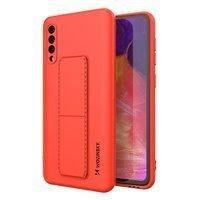 Wozinsky Kickstand Case elastyczne silikonowe etui z podstawką Samsung Galaxy A50 / Galaxy A30s czerwony