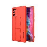 Wozinsky Kickstand Case elastyczne silikonowe etui z podstawką Samsung Galaxy Note 20 Ultra czerwony