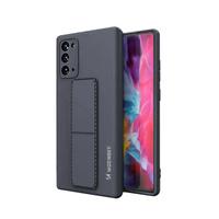 Wozinsky Kickstand Case elastyczne silikonowe etui z podstawką Samsung Galaxy Note 20 granatowy