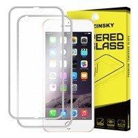 Wozinsky szkło hartowane na cały ekran + osłona na tył z aluminiową ramką iPhone 6S Plus / 6 Plus srebrny
