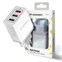 Wozinsky szybka ładowarka sieciowa Quick Charge QC 3.0 3x USB 30W biały (WWC-01)