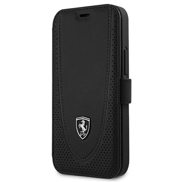 "Ferrari FEOGOFLBKP12SBK iPhone 12 mini 5,4"" czarny/black book Off Track Perforated"