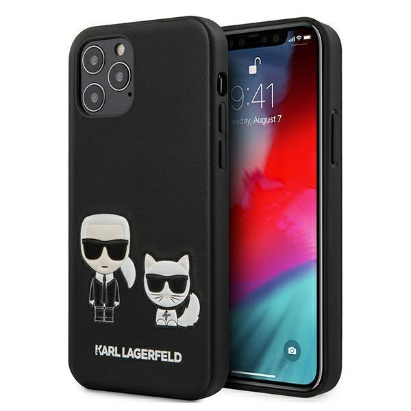 "Karl Lagerfeld KLHCP12MPCUSKCBK iPhone 12/12 Pro 6,1"" czarny/black hardcase Ikonik Karl & Choupette"