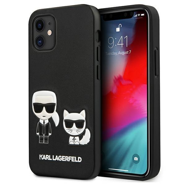 "Karl Lagerfeld KLHCP12SPCUSKCBK iPhone 12 mini 5,4"" czarny/black hardcase Ikonik Karl & Choupette"