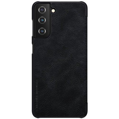 Nillkin Qin skórzana kabura etui Samsung Galaxy S21+ 5G (S21 Plus 5G) czarny